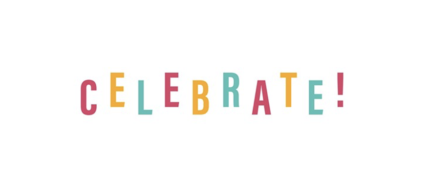 title celebrate spelled out