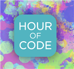 Hour of Code logo, leaving MCS Schools, opening in a new window.